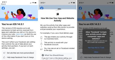 Facebook tracking iOS 14.5