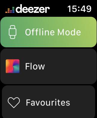 Deezer Offline Listening Apple Watch