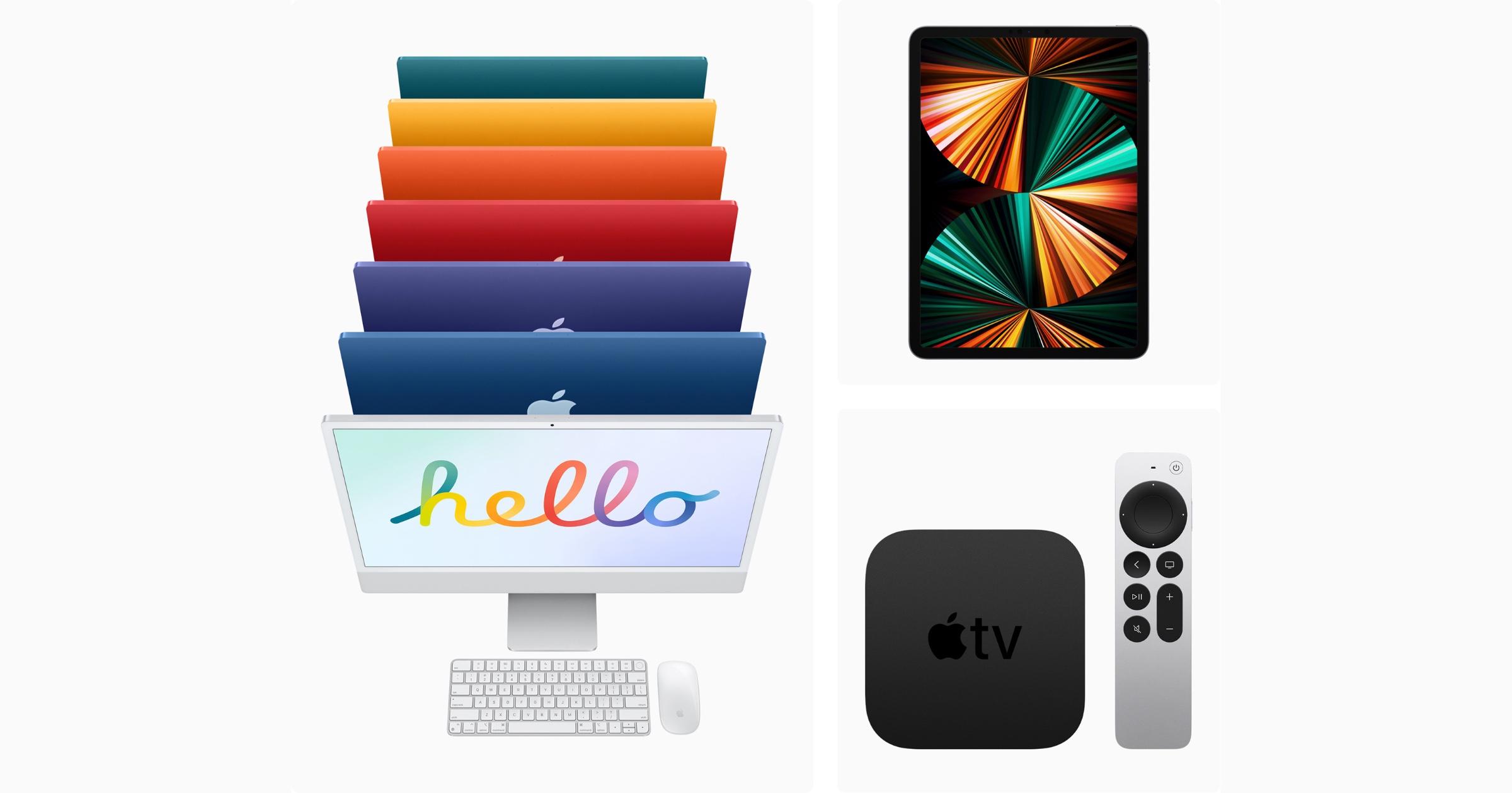 M1 iMac iPad Pro Apple TV 4K