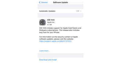 iOS 14.6 release candidate