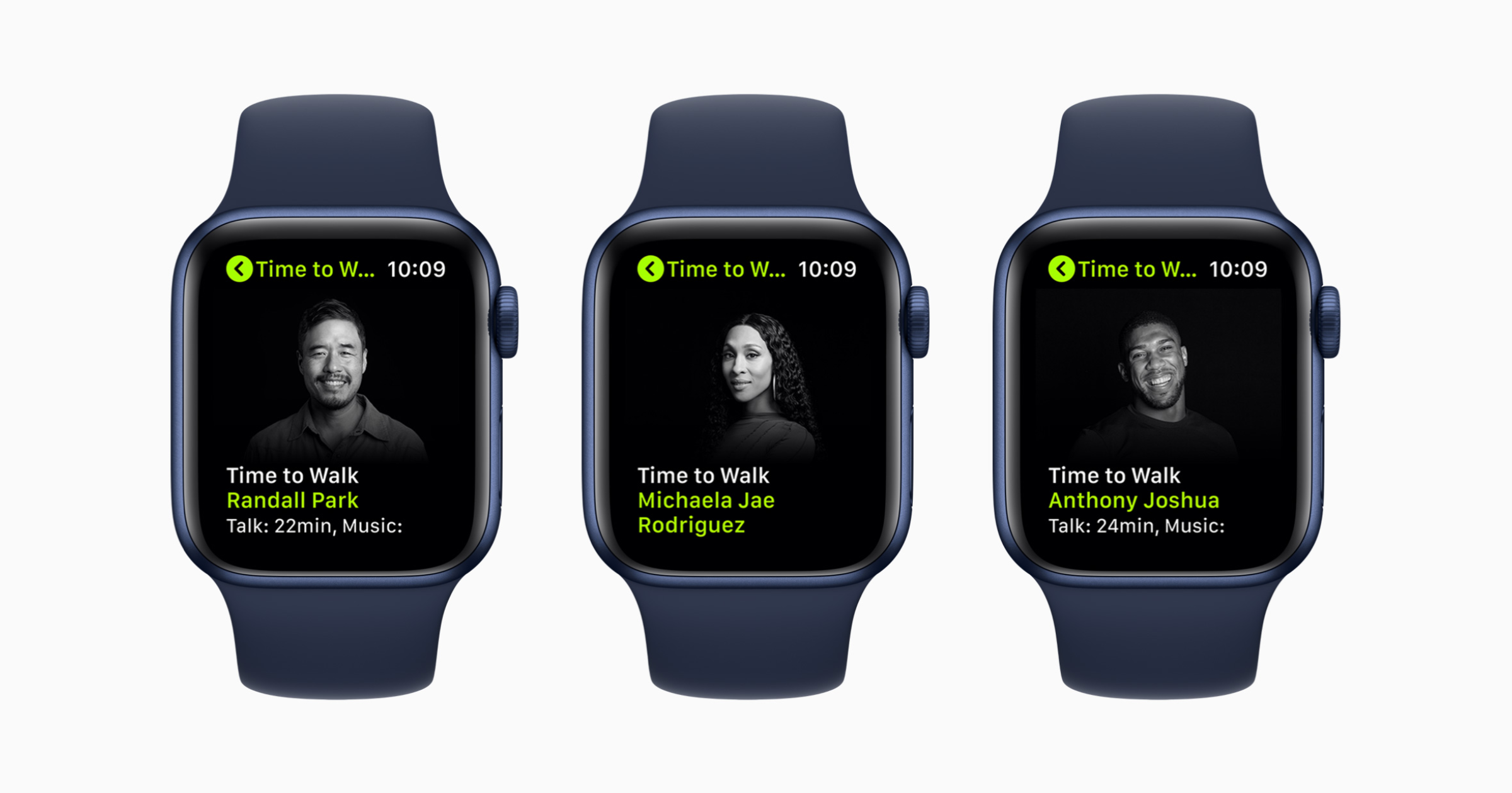 New Apple Fitnes+ Time to Walk Guests