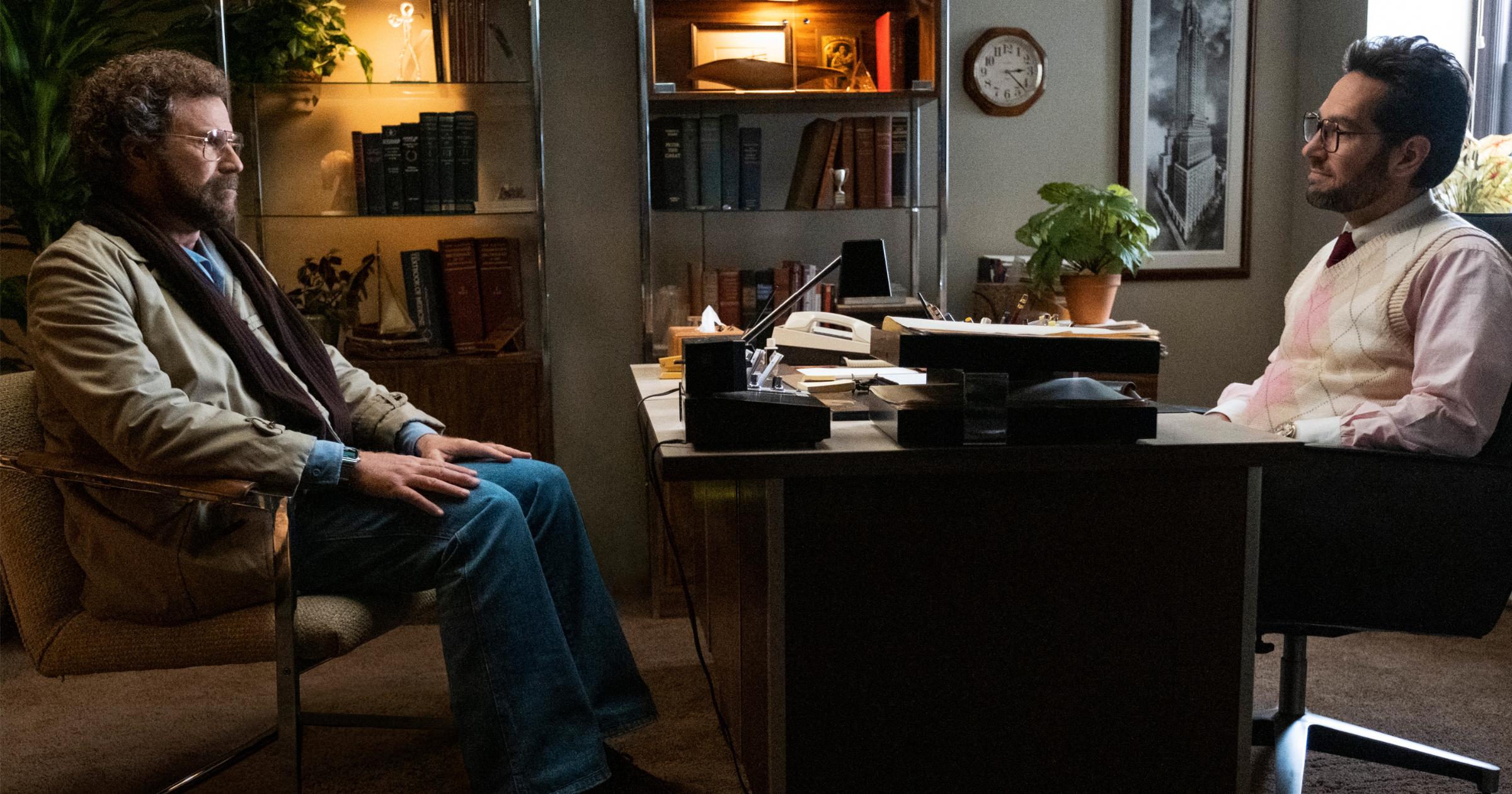 Paul Rudd and Will Ferrell in 'The Shrink Next Door' on Apple TV+