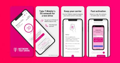 T-Mobile test drive app