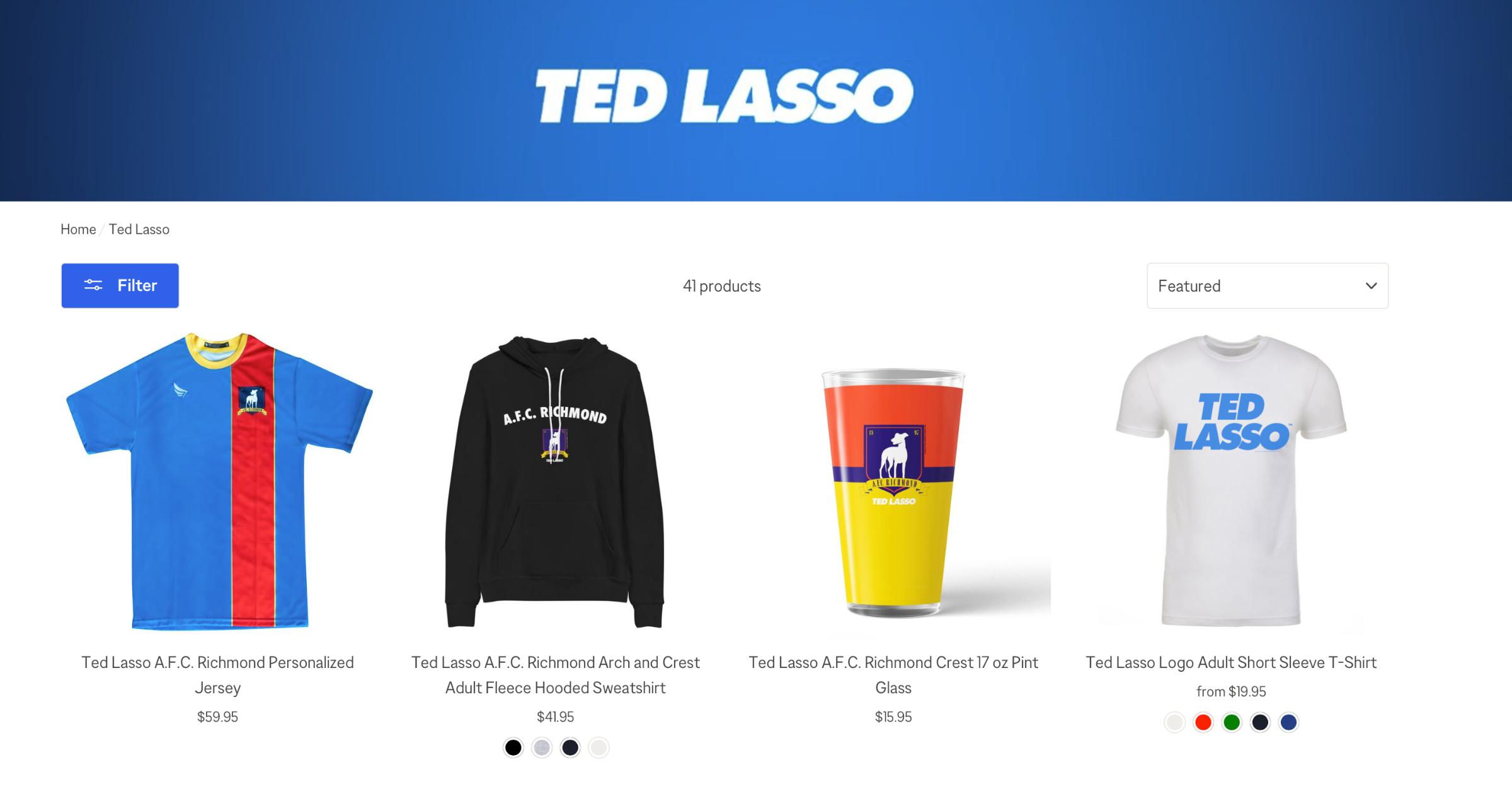 Ted Lasso Merch