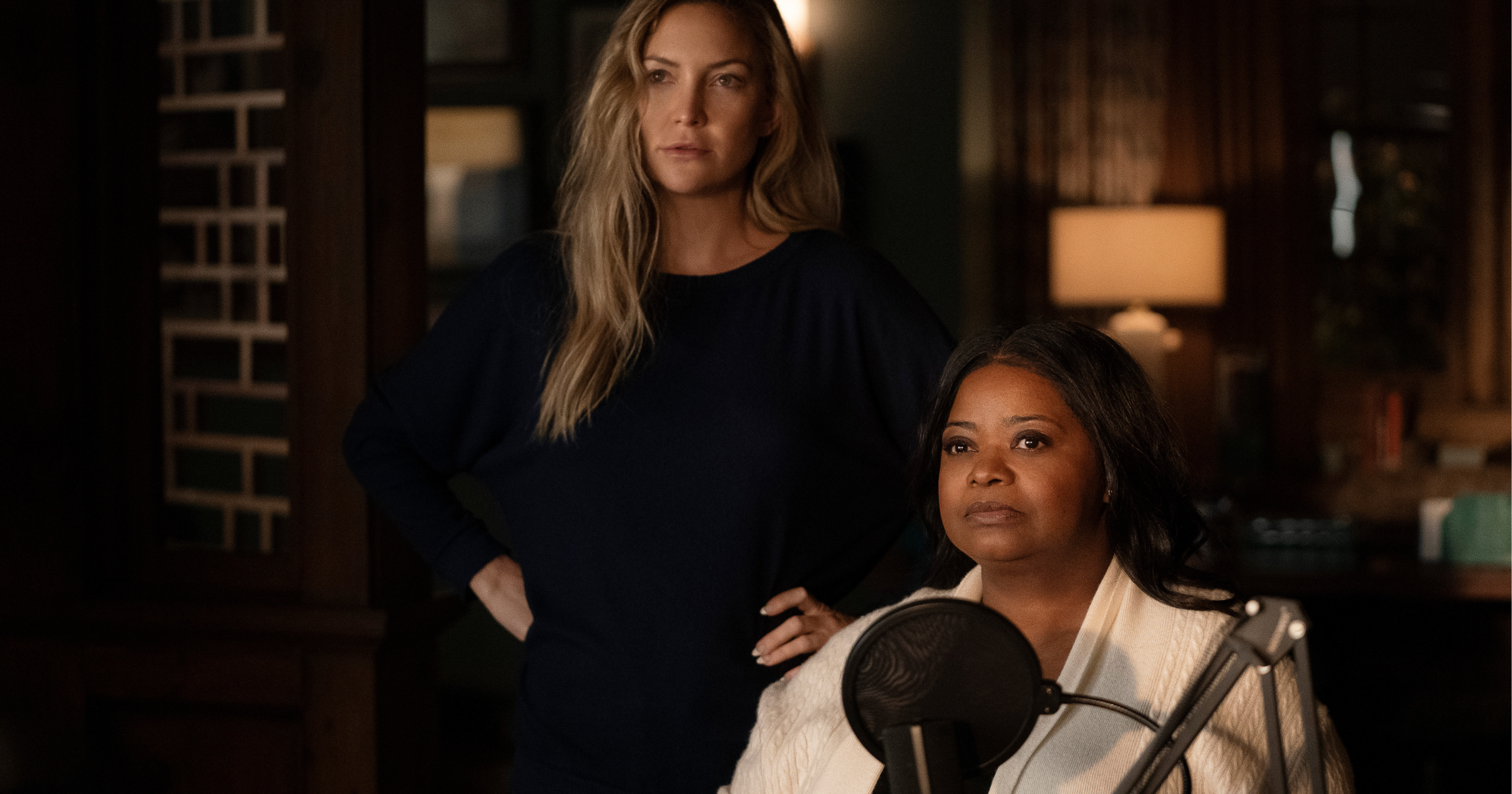 Octavia Spencer and Kate Hudson in Truth be Told Season Two on Apple TV+