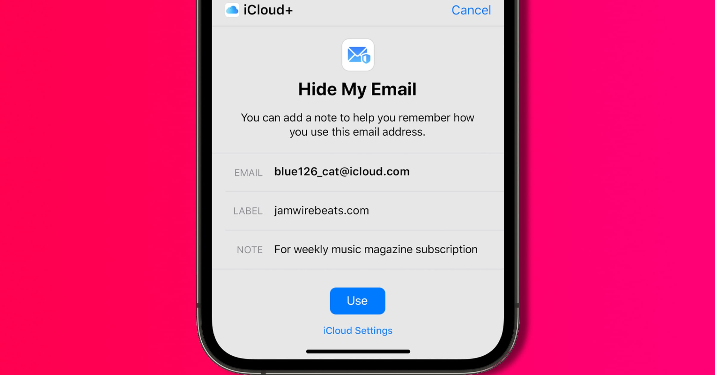 iOS 15 hide my email