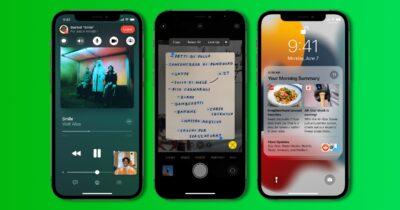 iOS 15 screenshots