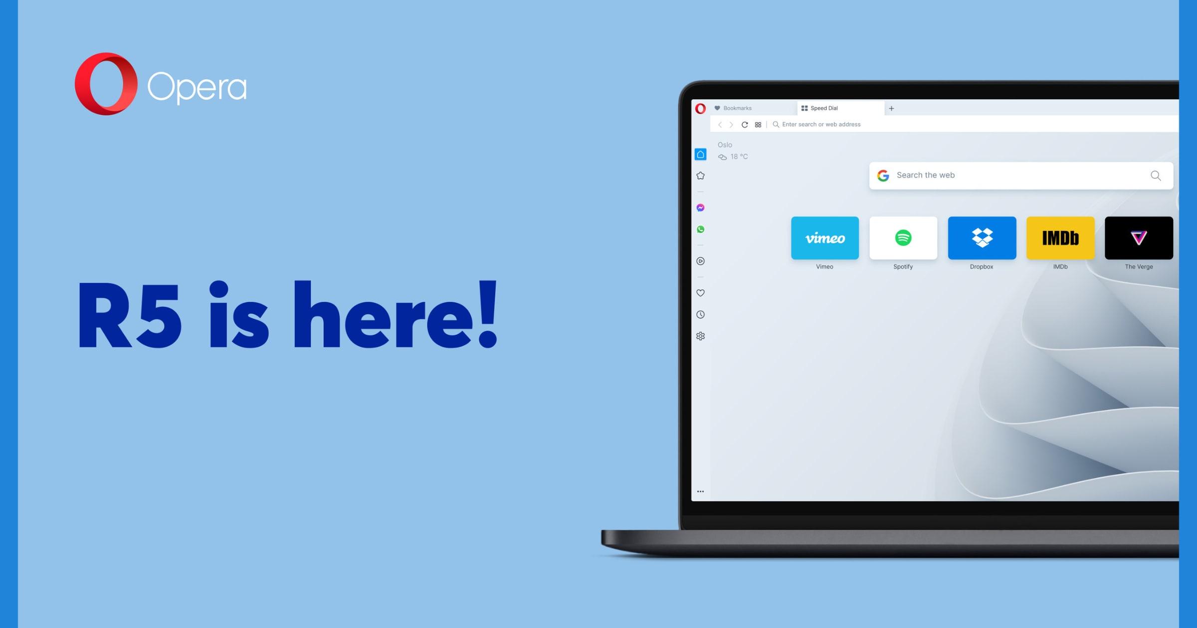 opera browser R5 update