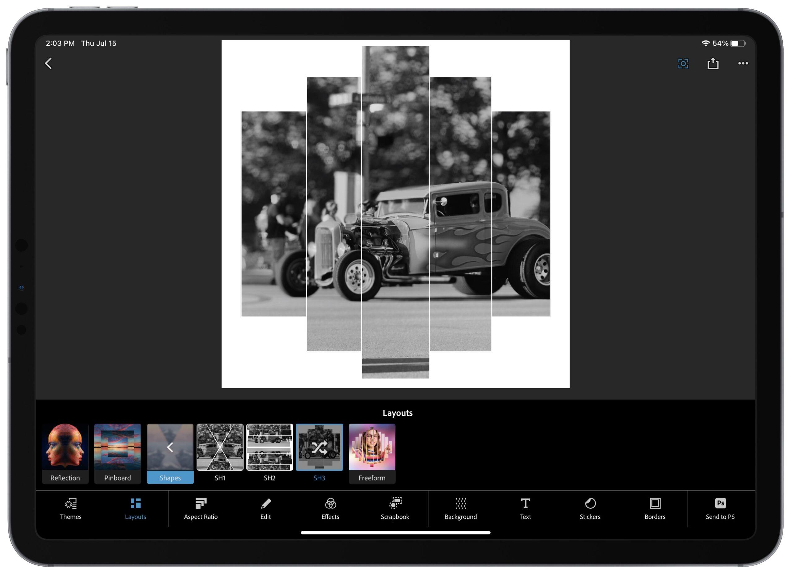 Adobe photoshop express collage tool