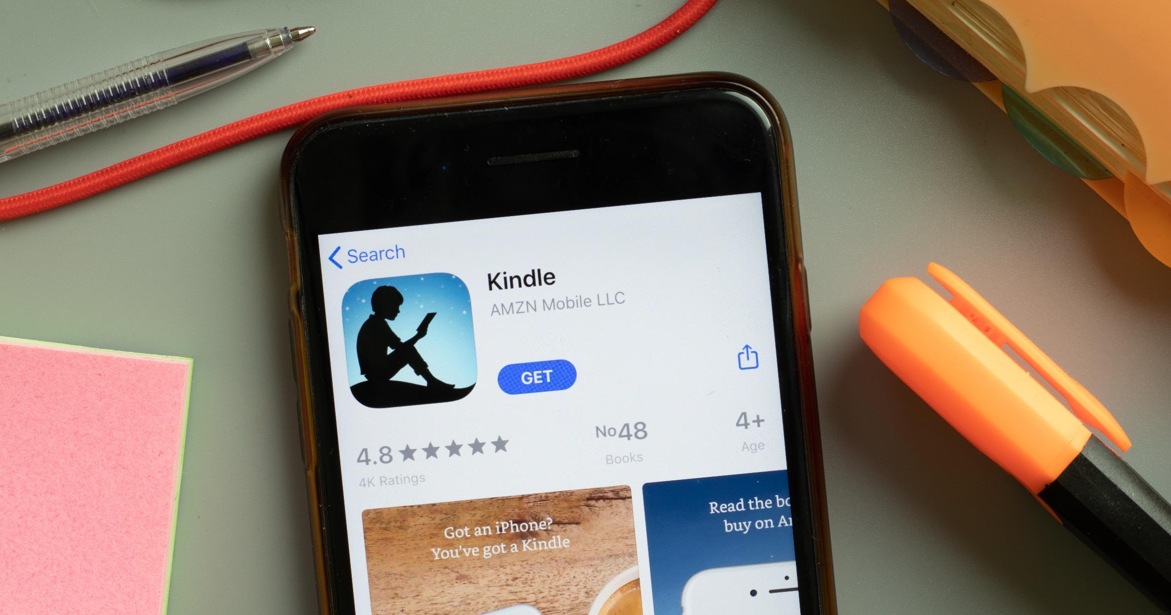 Kindle app on iPhone