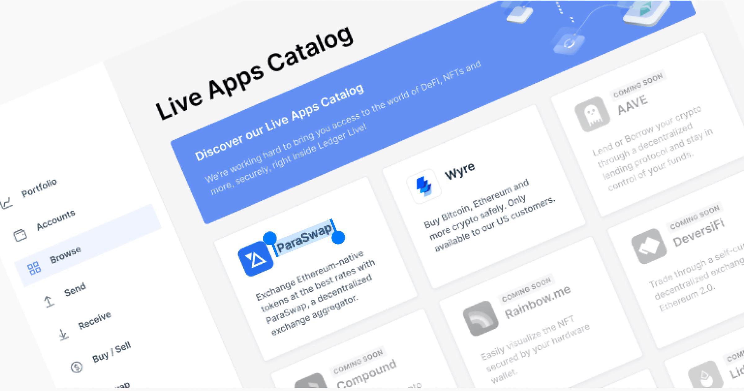 Ledger app catalog