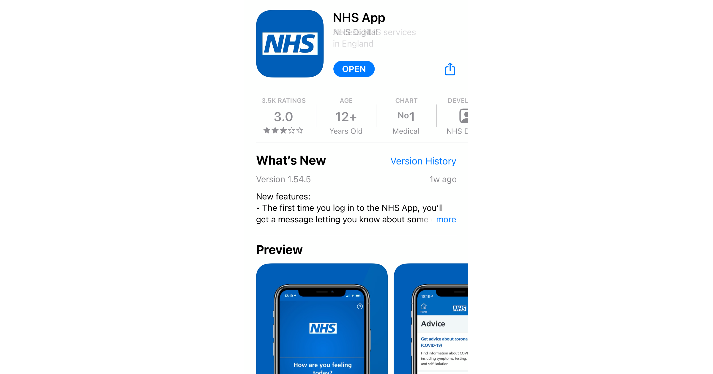 NHS App COVID pass