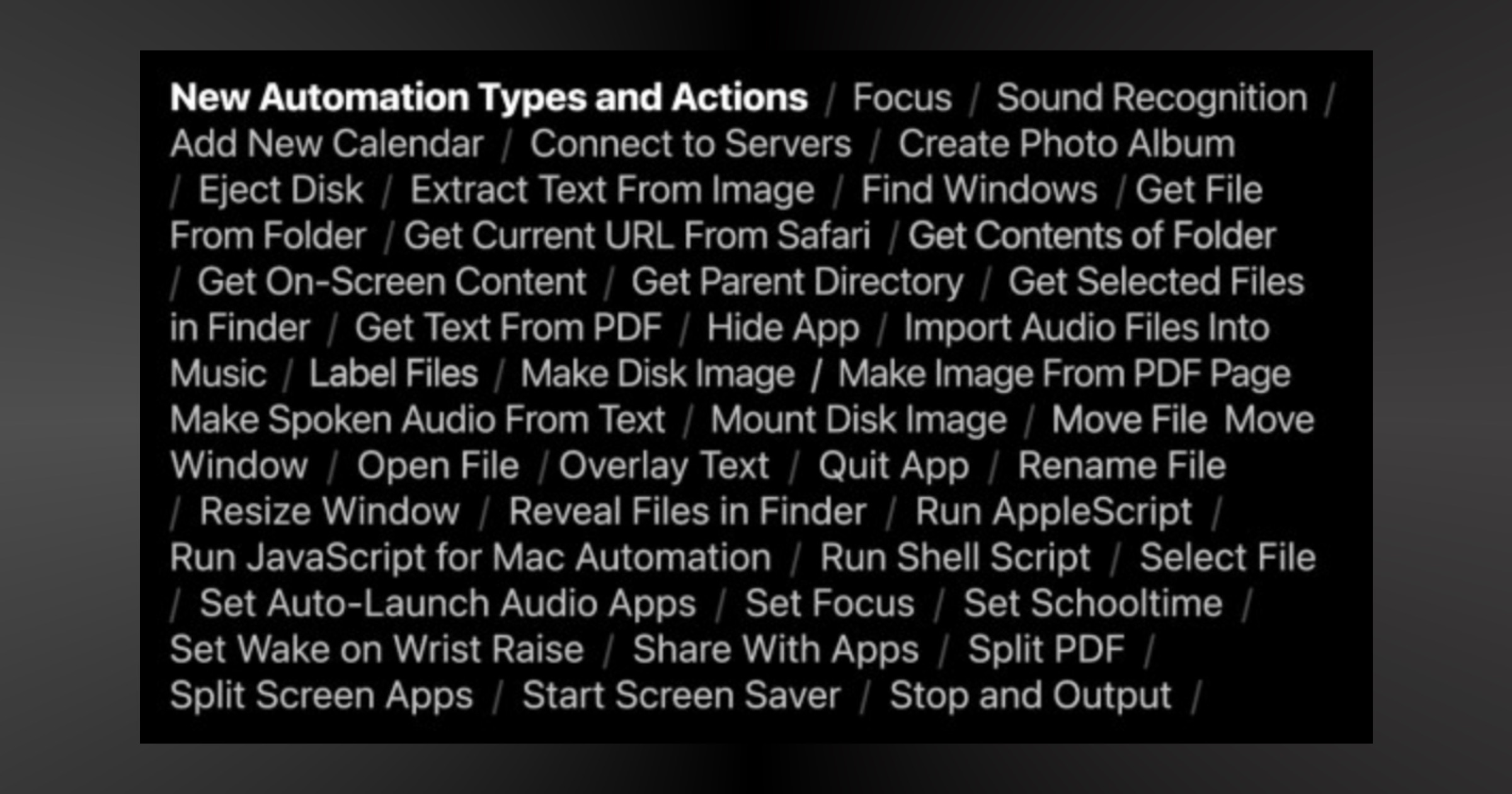 New iOS 15 shortcut action