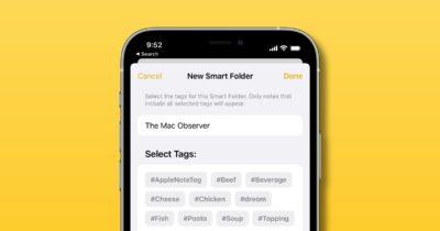 Smart Folders in Apple notes