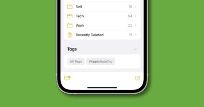 Tags in apple notes iOS 15