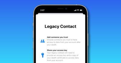 iOS 15 legacy contact