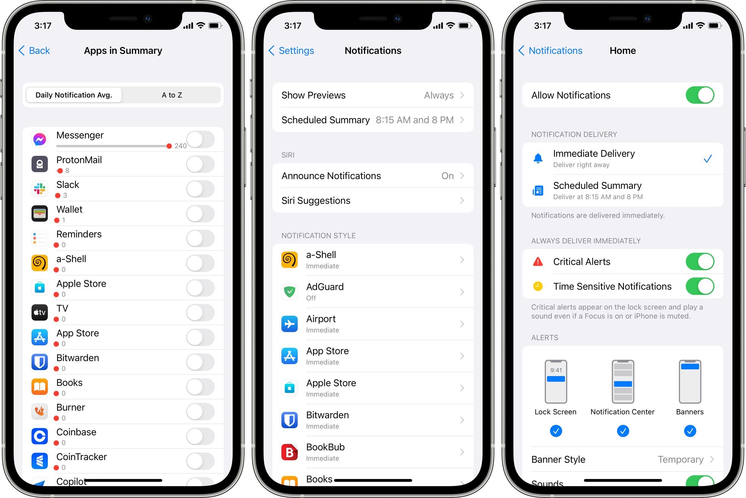 iOS 15 notification controls