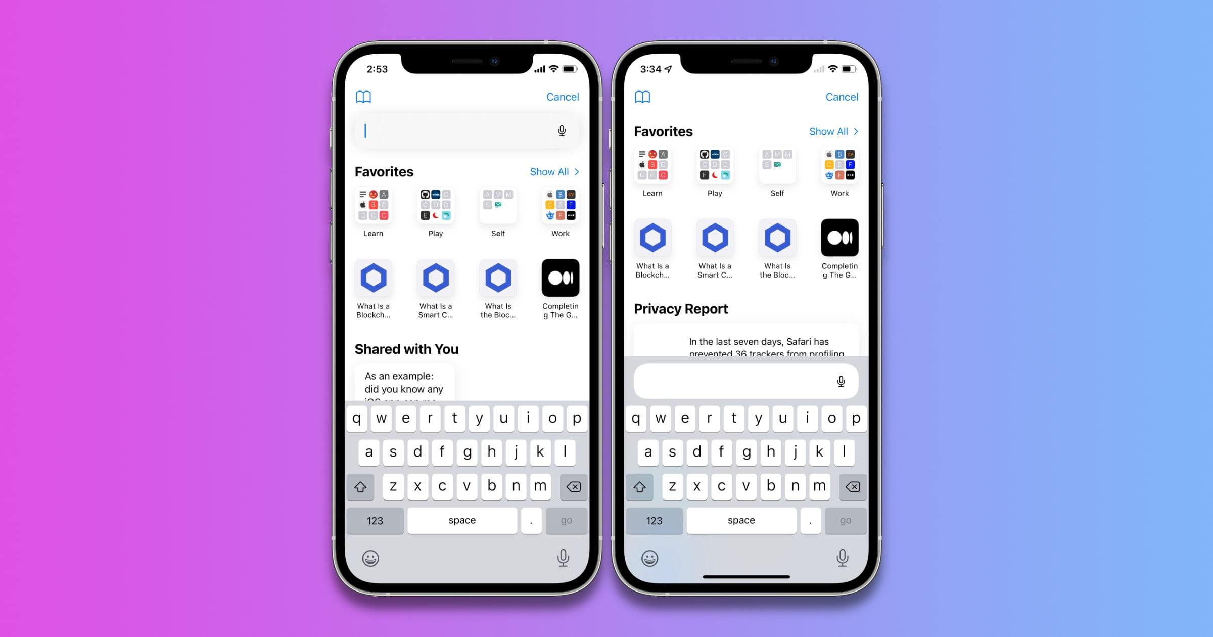 iOS 15 public beta 2 safari