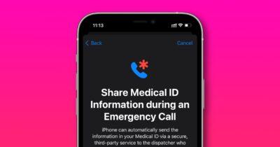 iOS 15 share medical ID