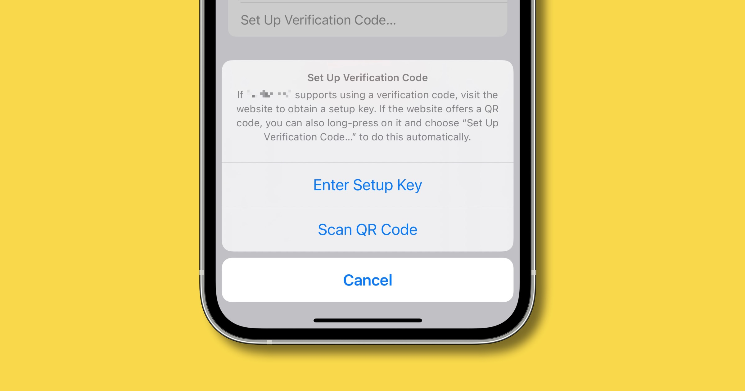 iOS 15 two-factor authentication