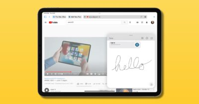 iPadOS 15 quick note