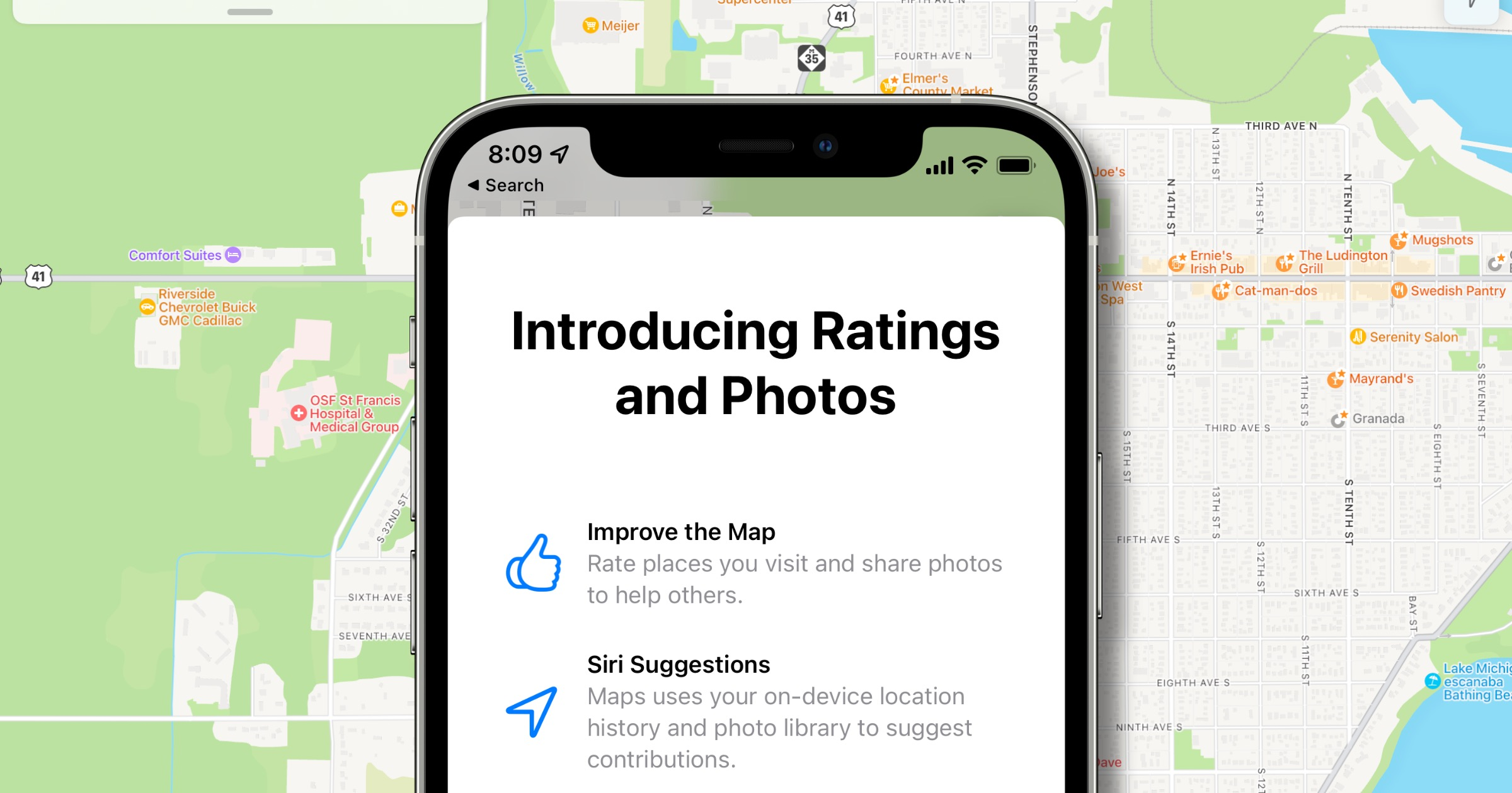 Apple Maps rating system