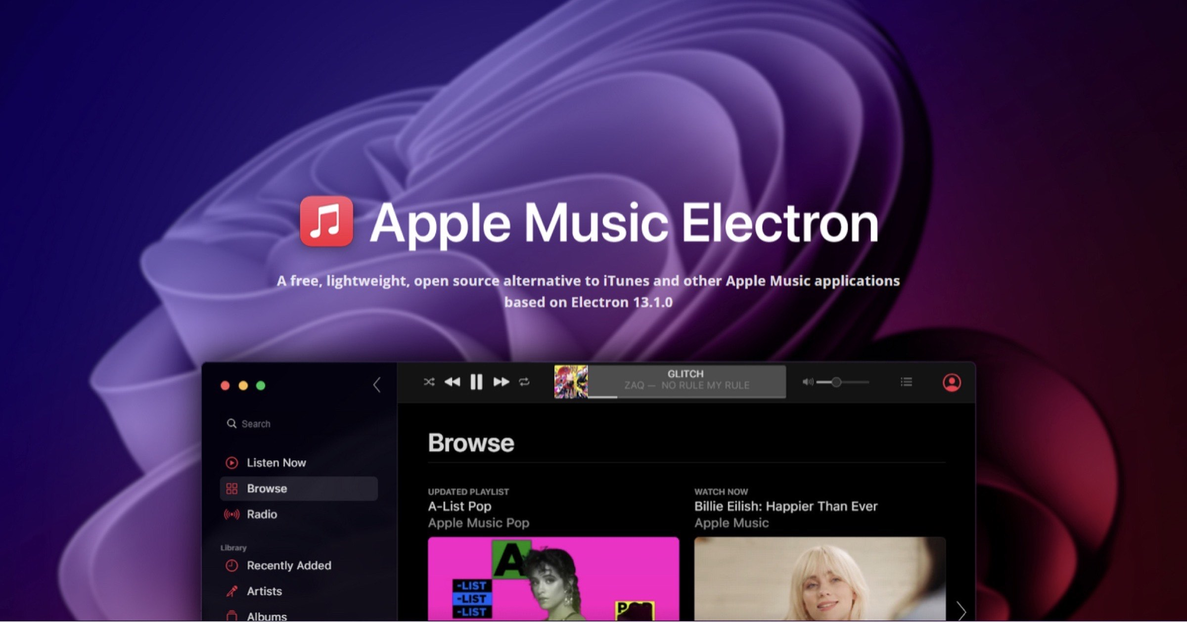 'Apple Music Electron' is a Free, Open Source Alternative