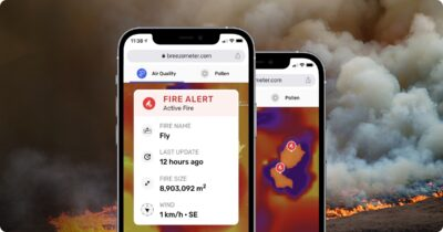 Breezometer wildfire tracker