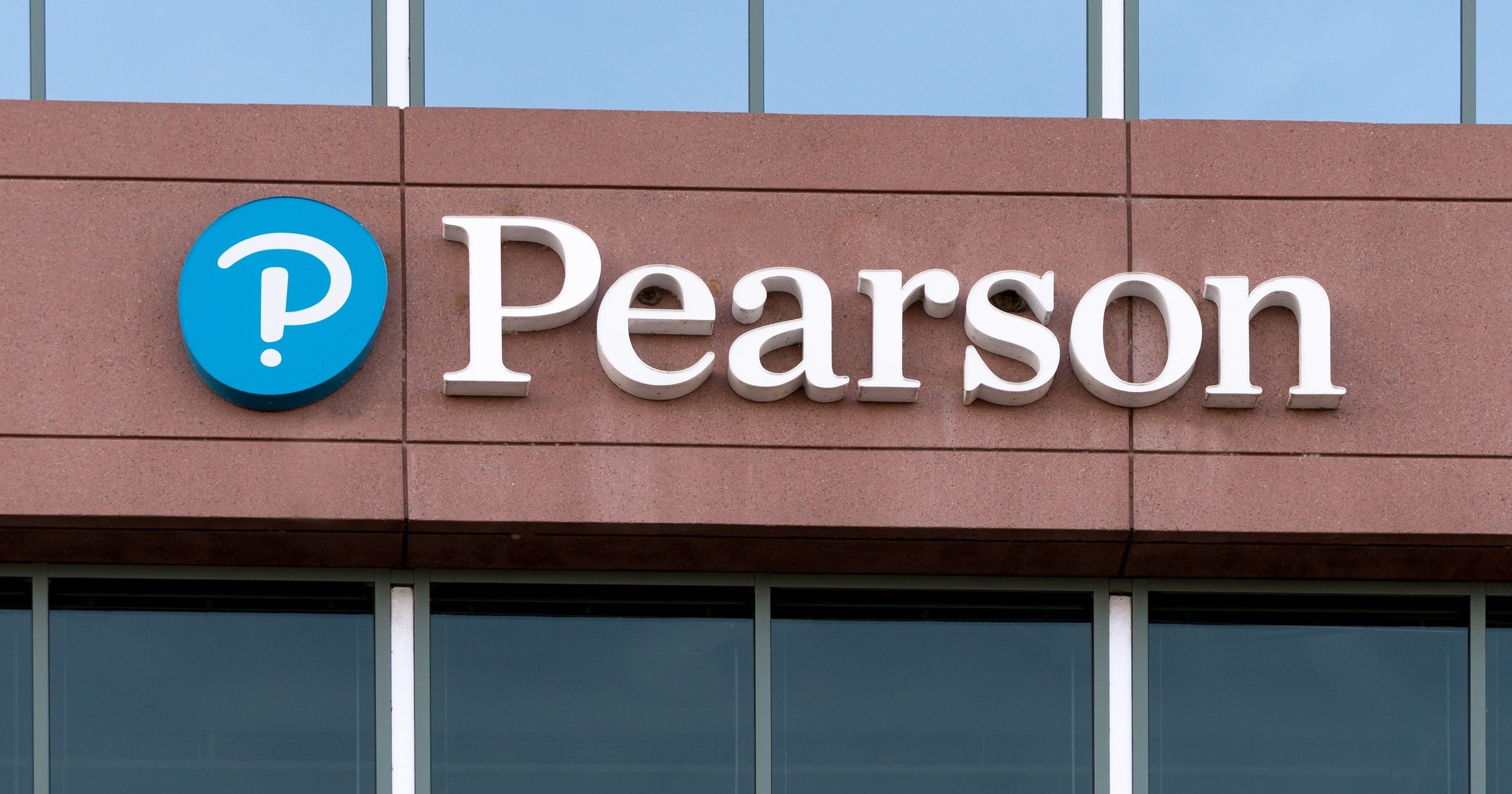 Pearson office building and logo
