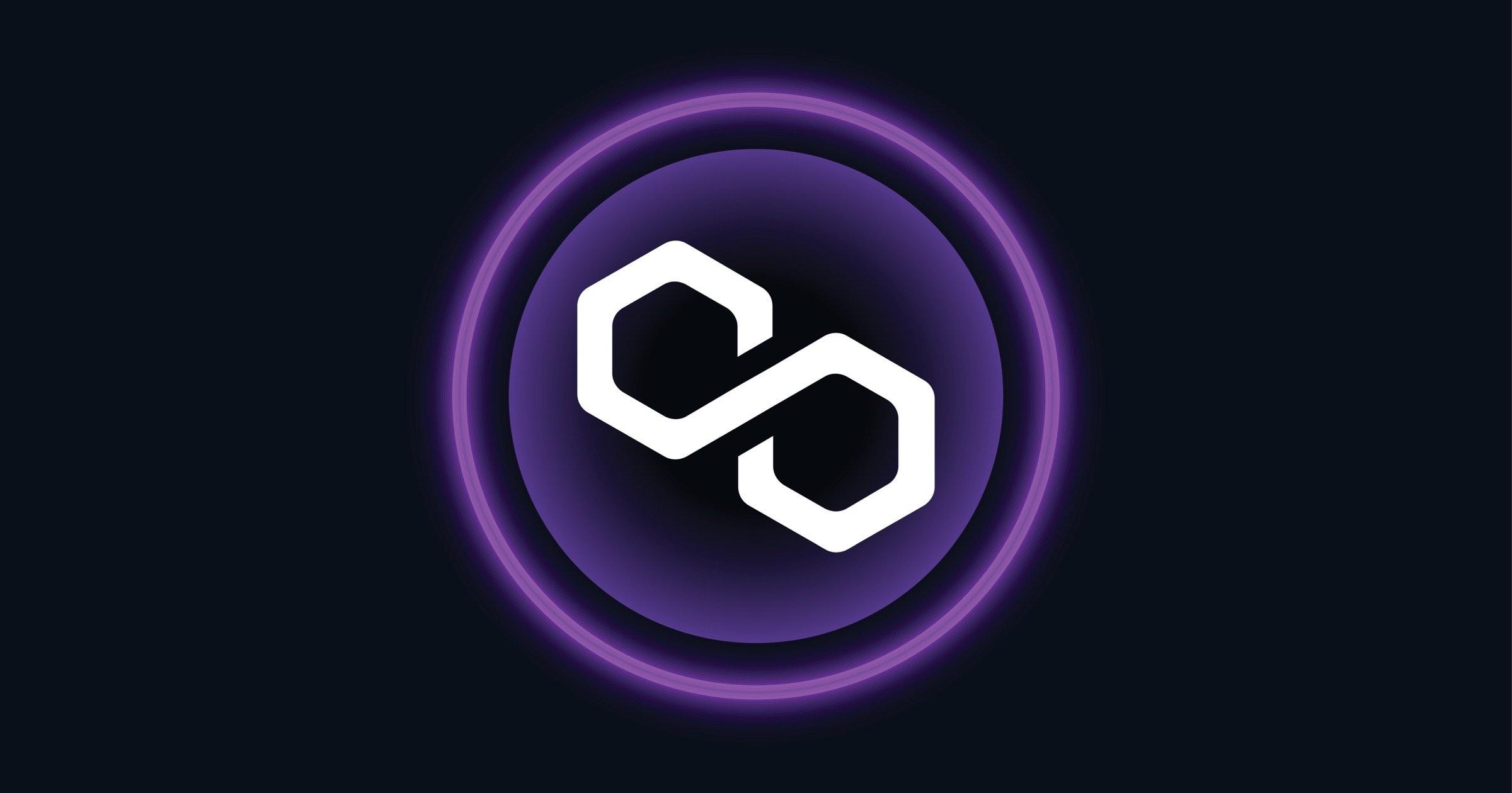 Polygon blockchain icon