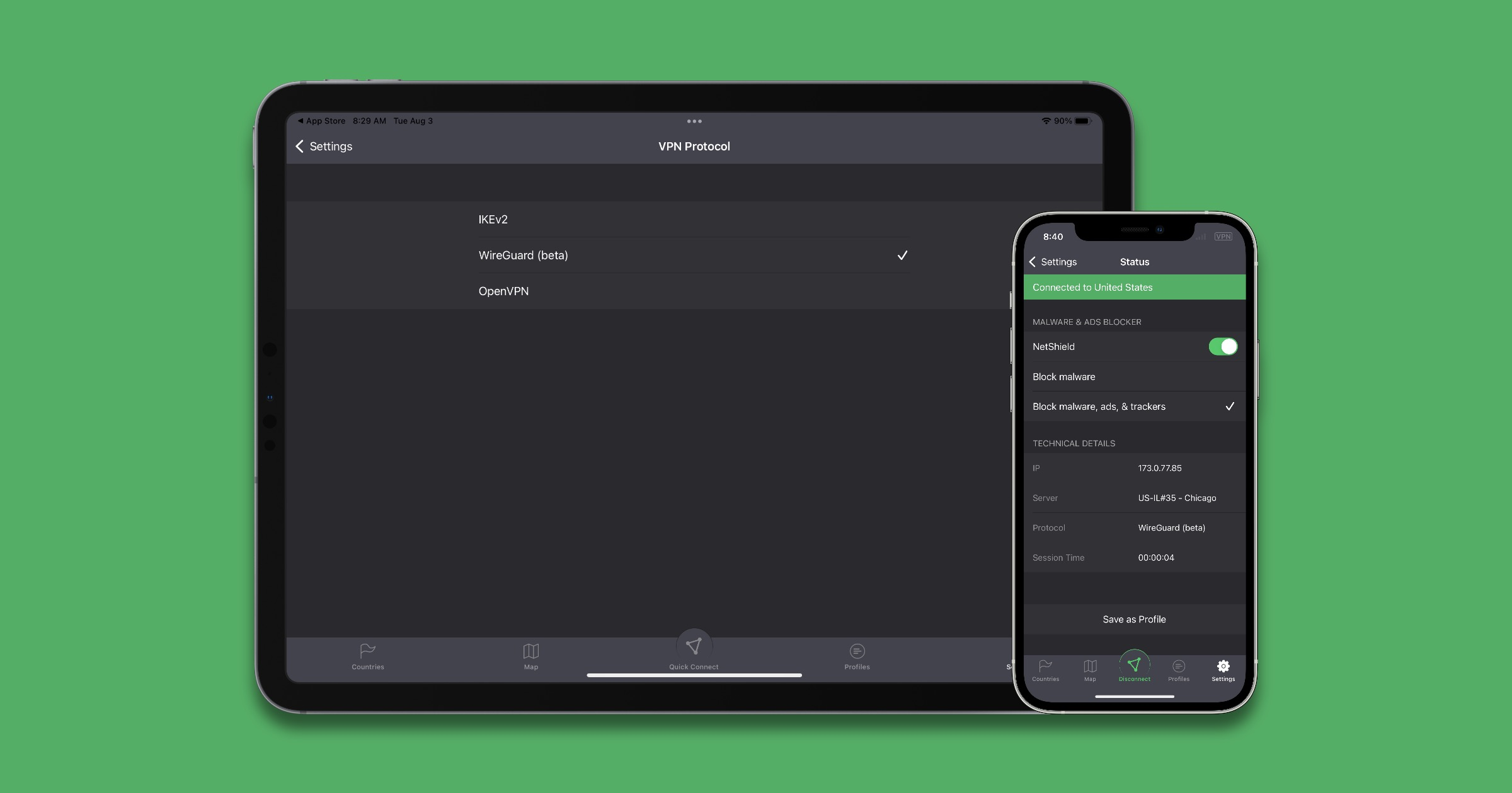 Update to ProtonVPN Adds WireGuard Protocol, iOS Kill Switch