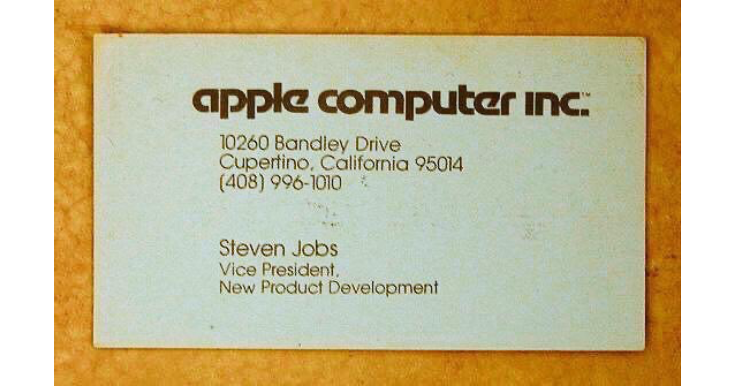 This is What Steve Jobs's First-Ever Apple Business Card Looked Like