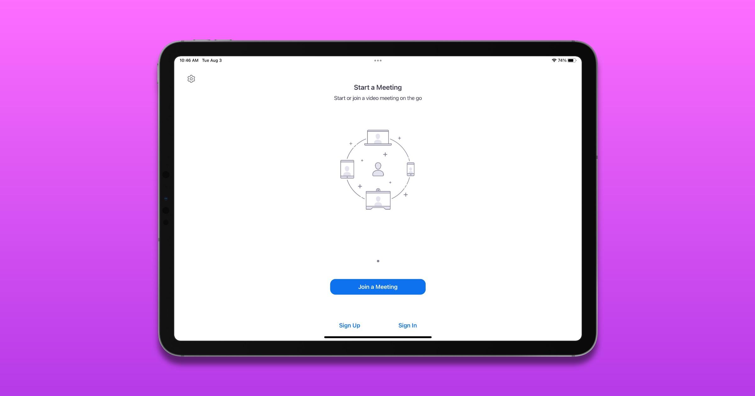Zoom meeting on iPad