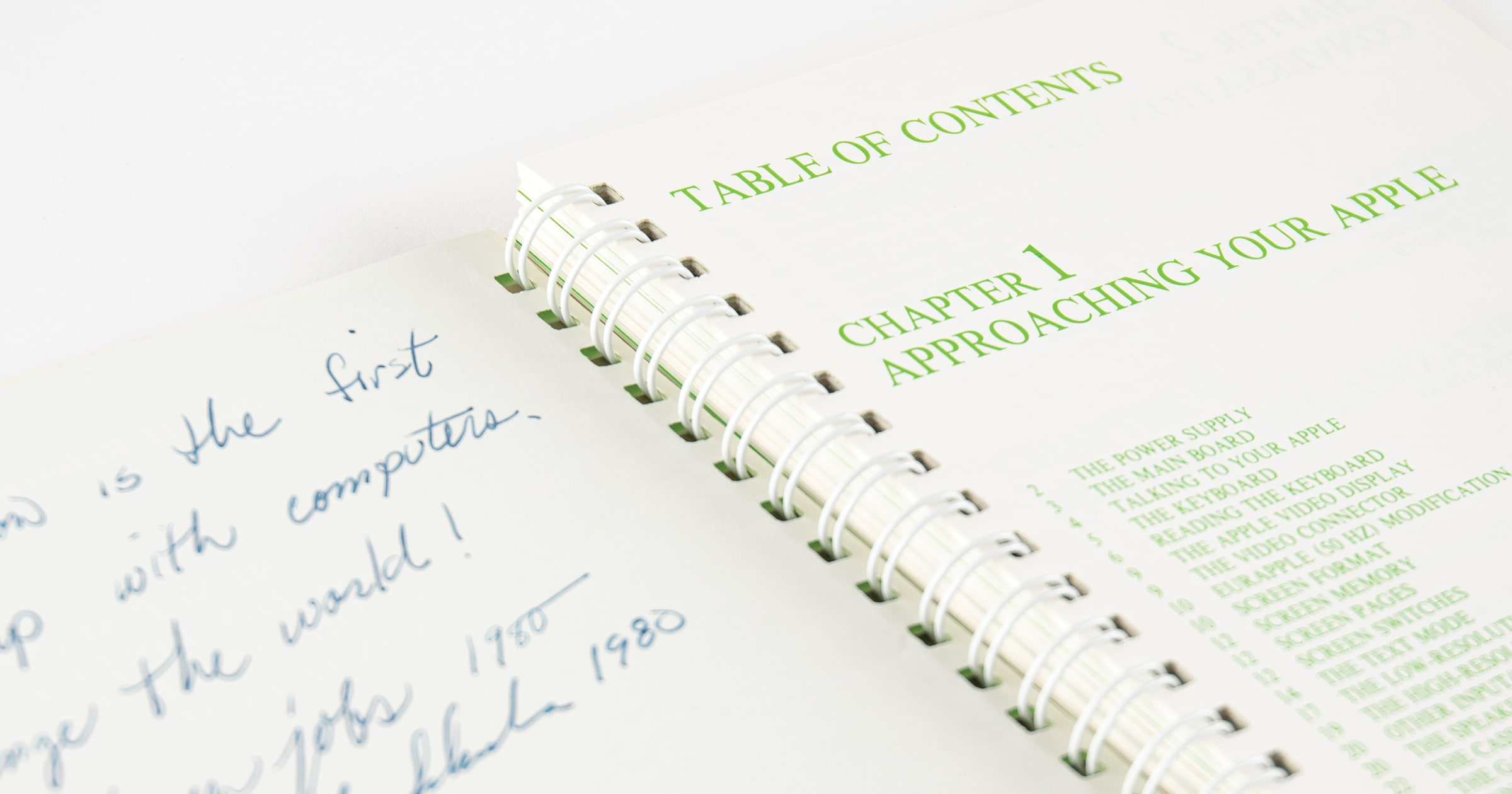 apple II manual signed by steve jobs