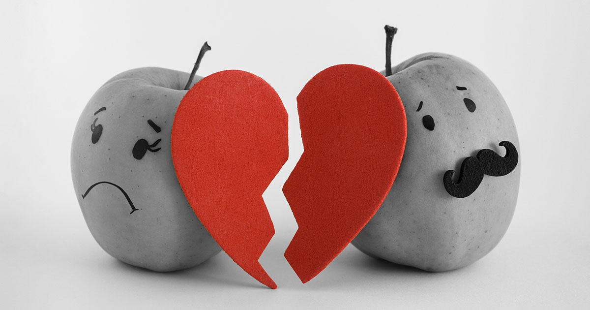 Apples with a broken heart