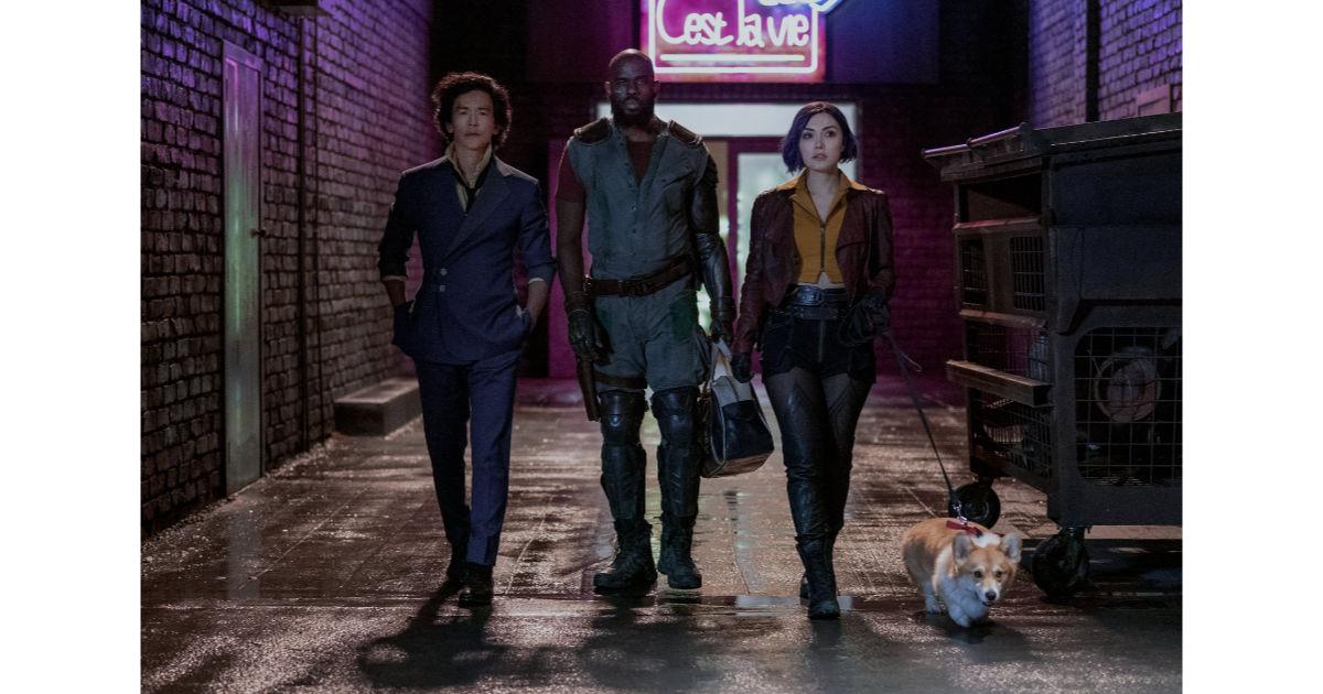 Cowboy Bebop live action series cast walking in an alley
