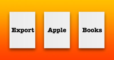 export apple books