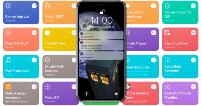 iPhone with Shortcuts automation notifications on screen