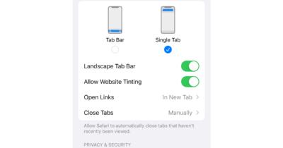 Address bar Safari iOS 15