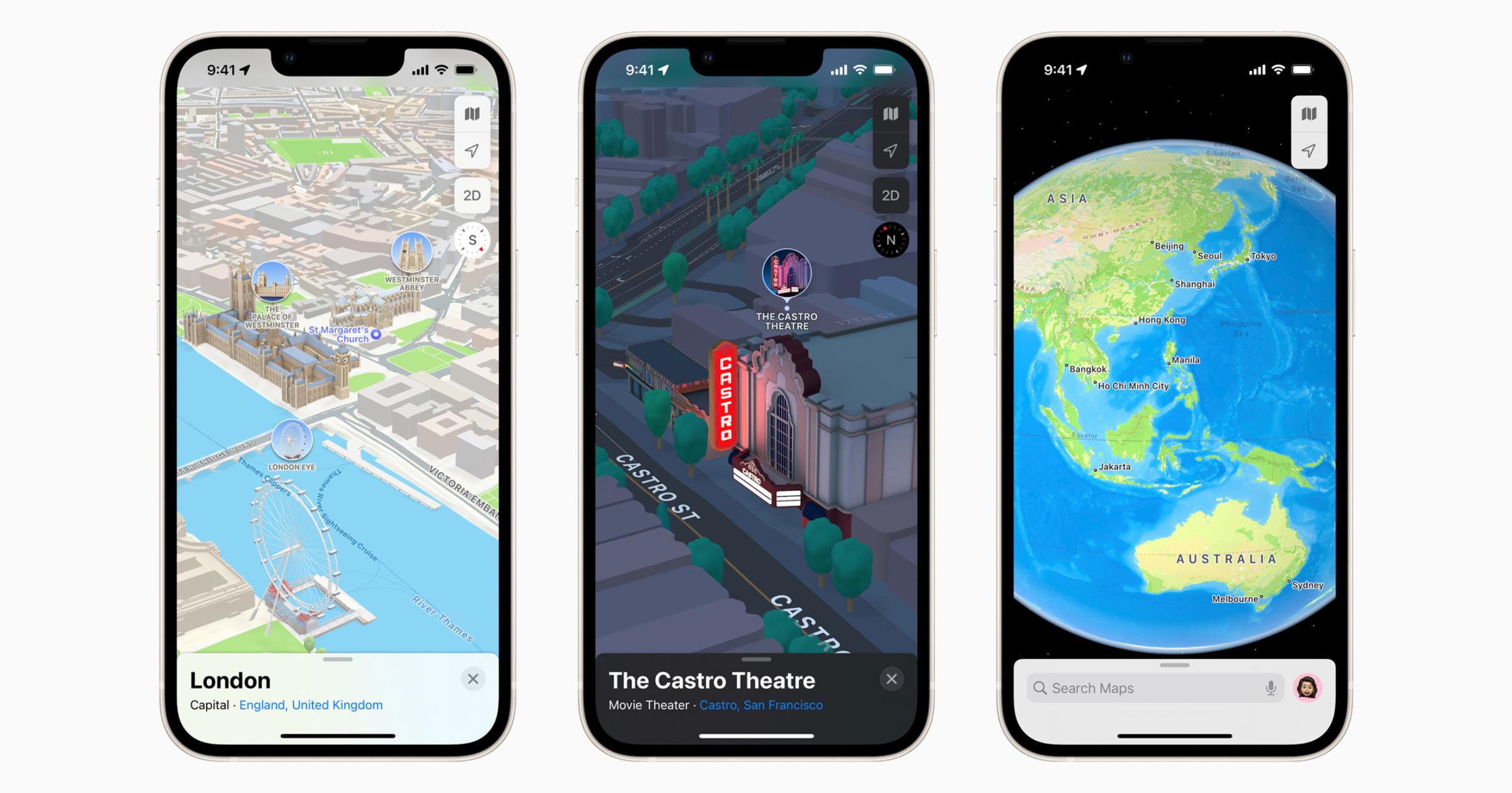 Apple Maps 3D iOS 15
