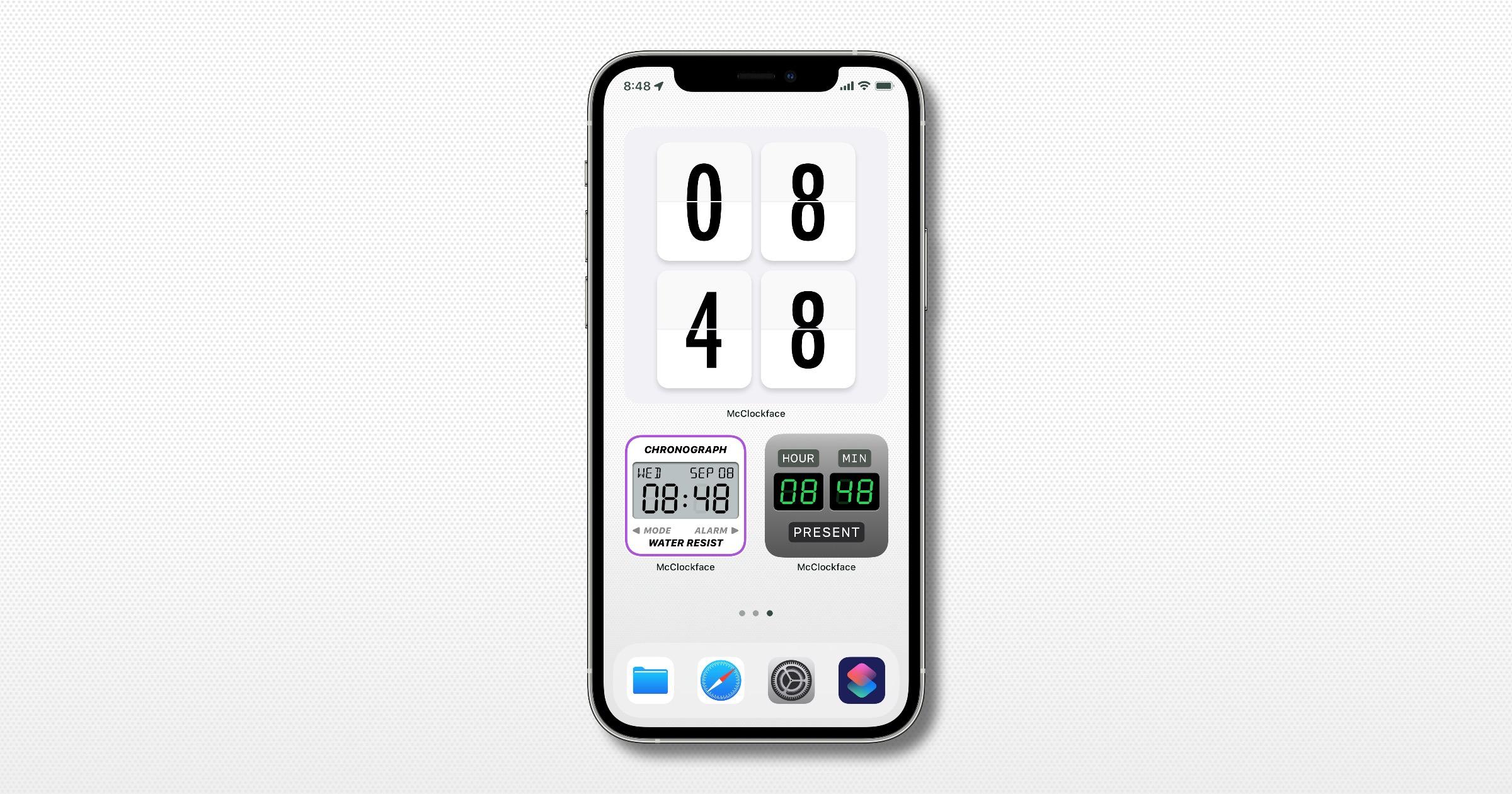 'McClockface' Update Adds Time Zones to Home Screen Widgets