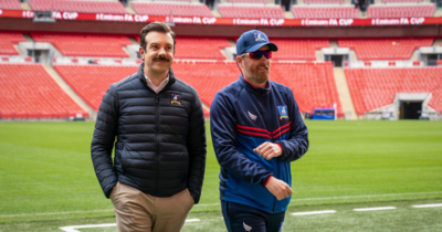 Ted Lasso and Coach Beard at Wembley