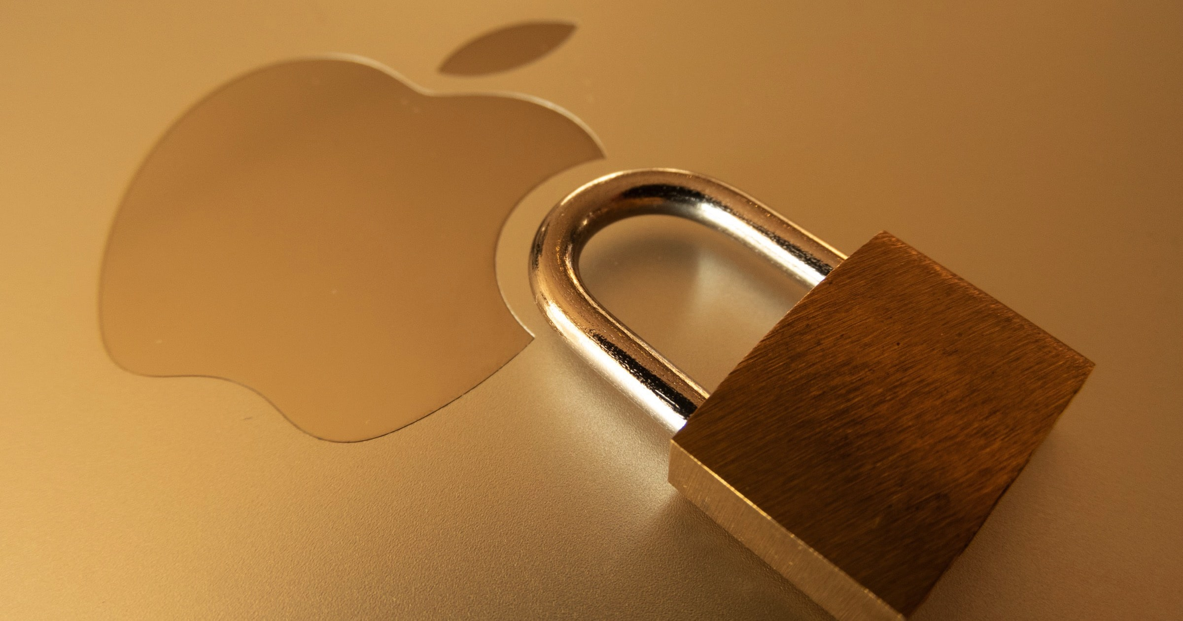 apple security with padlock