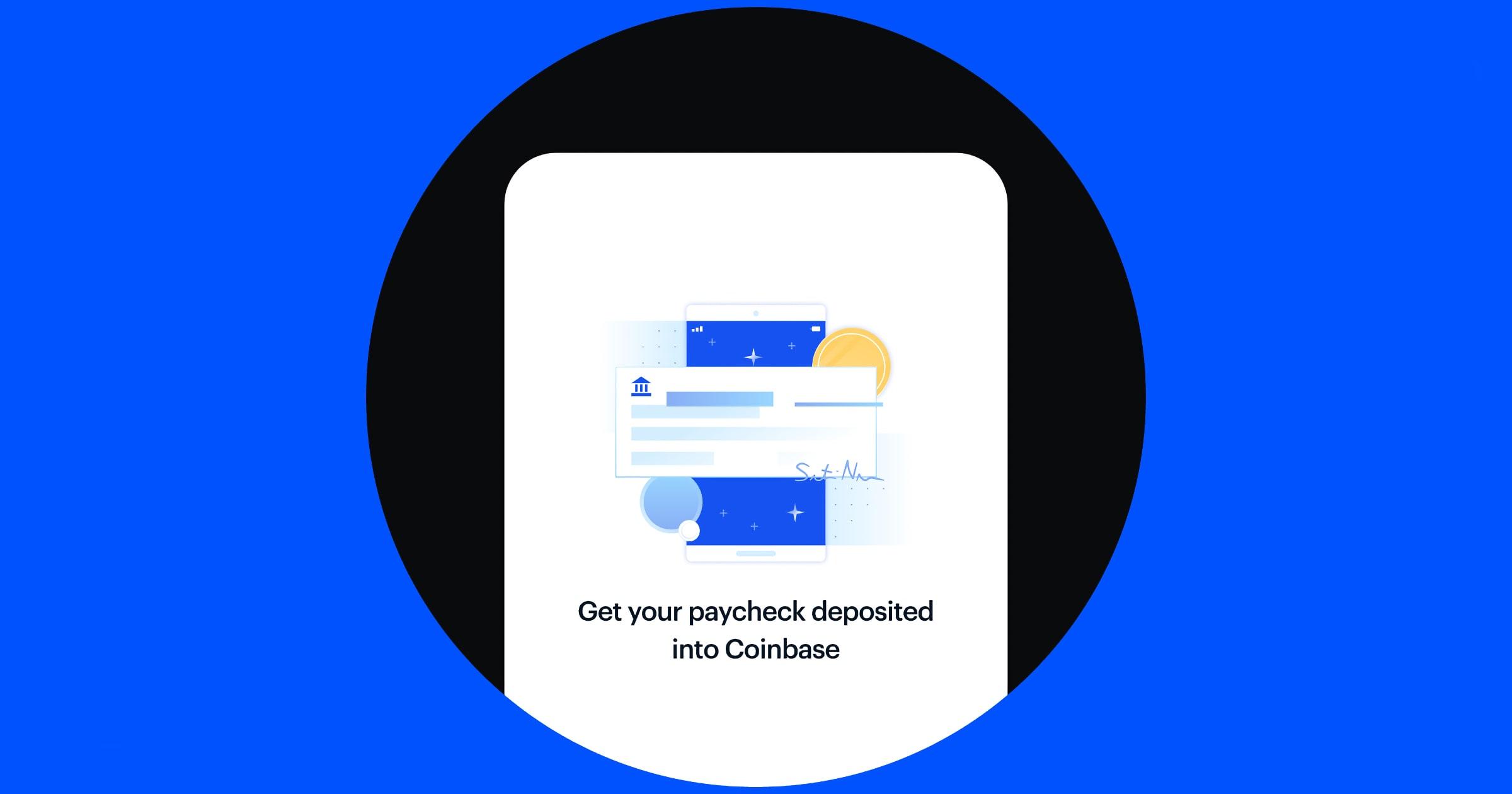 coinbase direct deposit