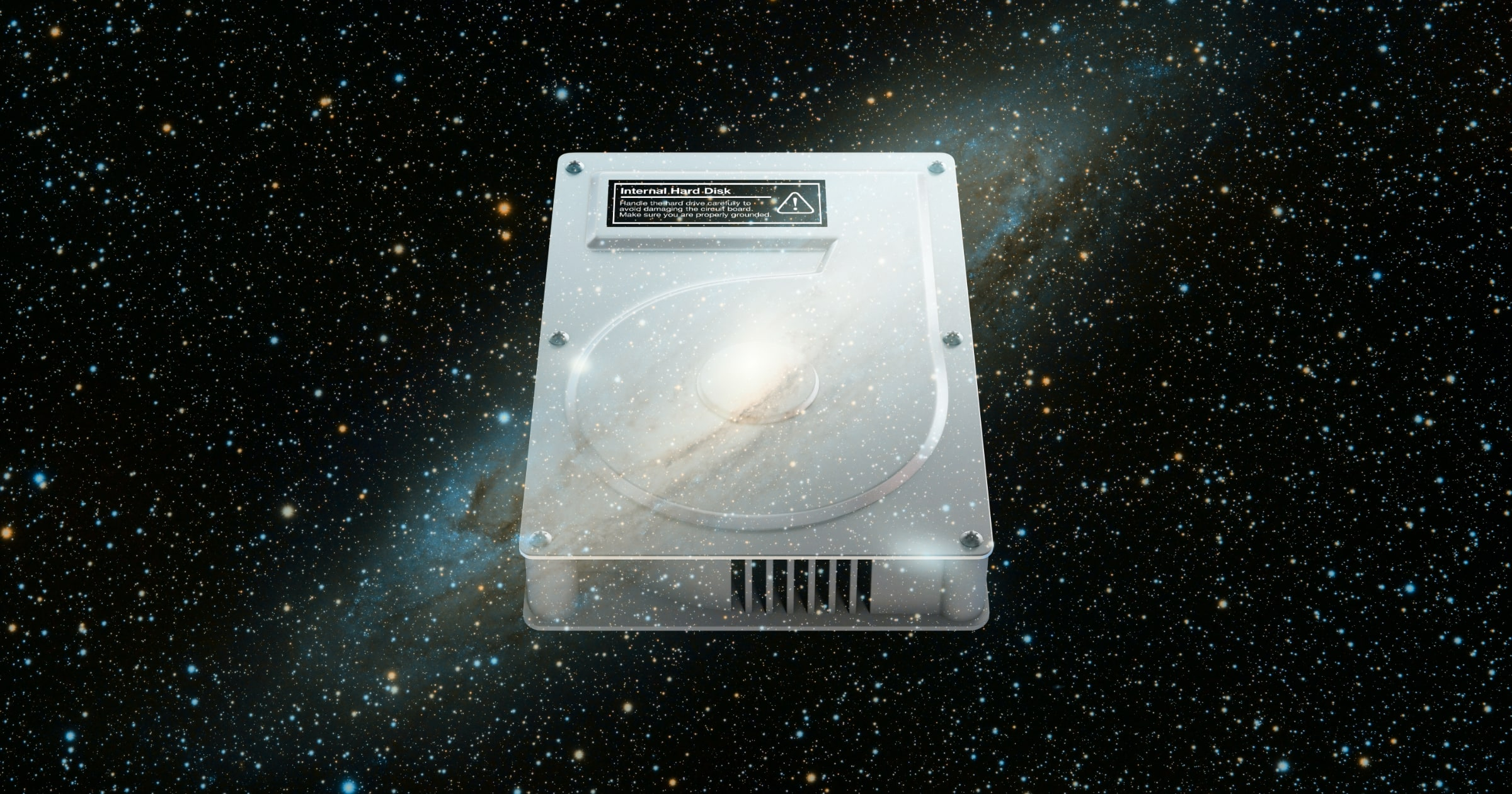 hard drive in space