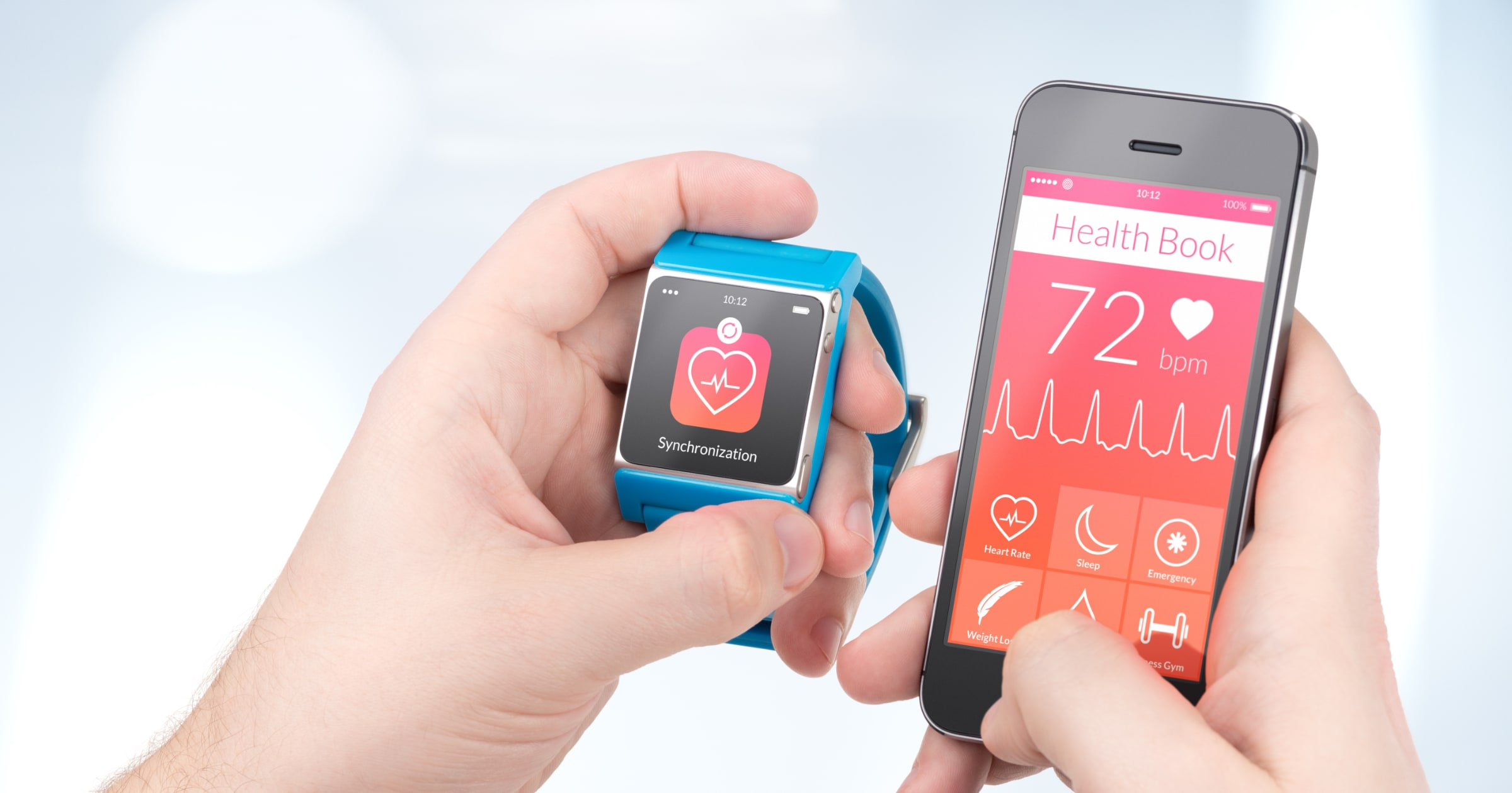 health app on generic smartphone and smartwatch