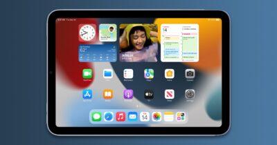 iPadOS 15 on iPad mini