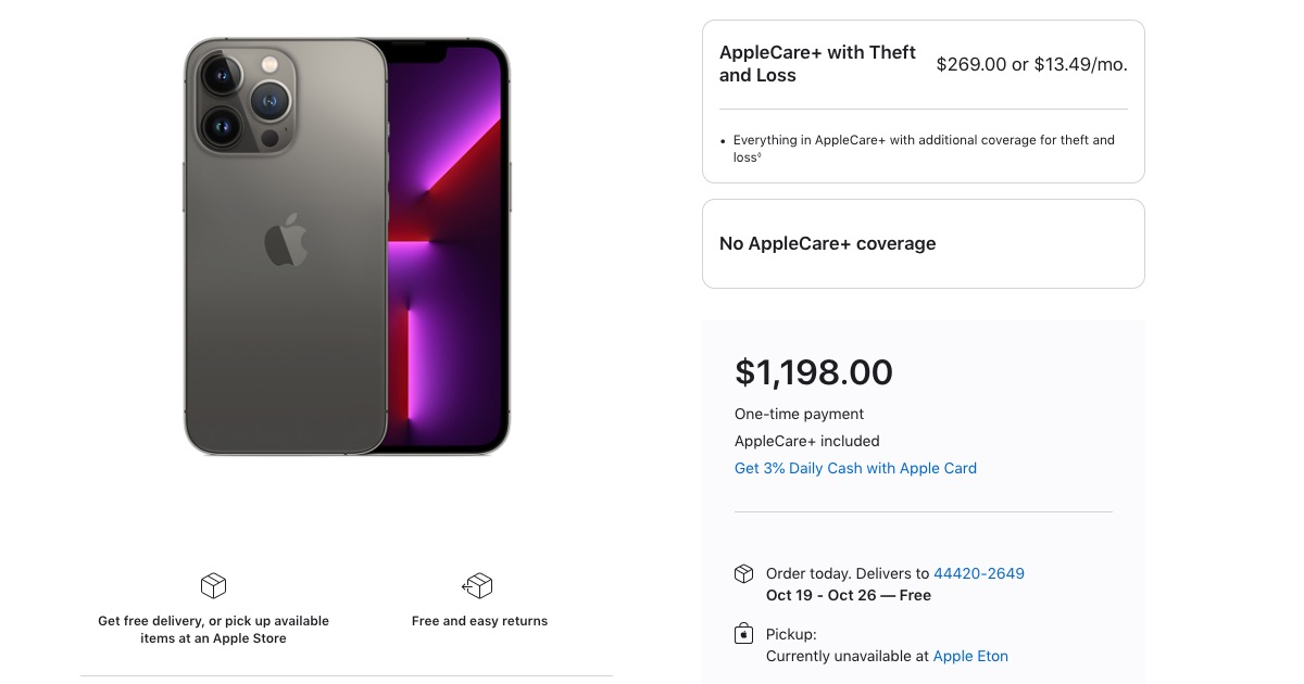 iPhone 13 Models Sold Out