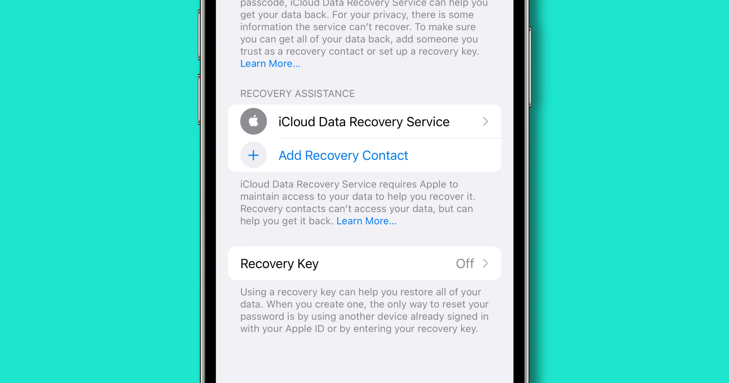 icloud data recovery contact