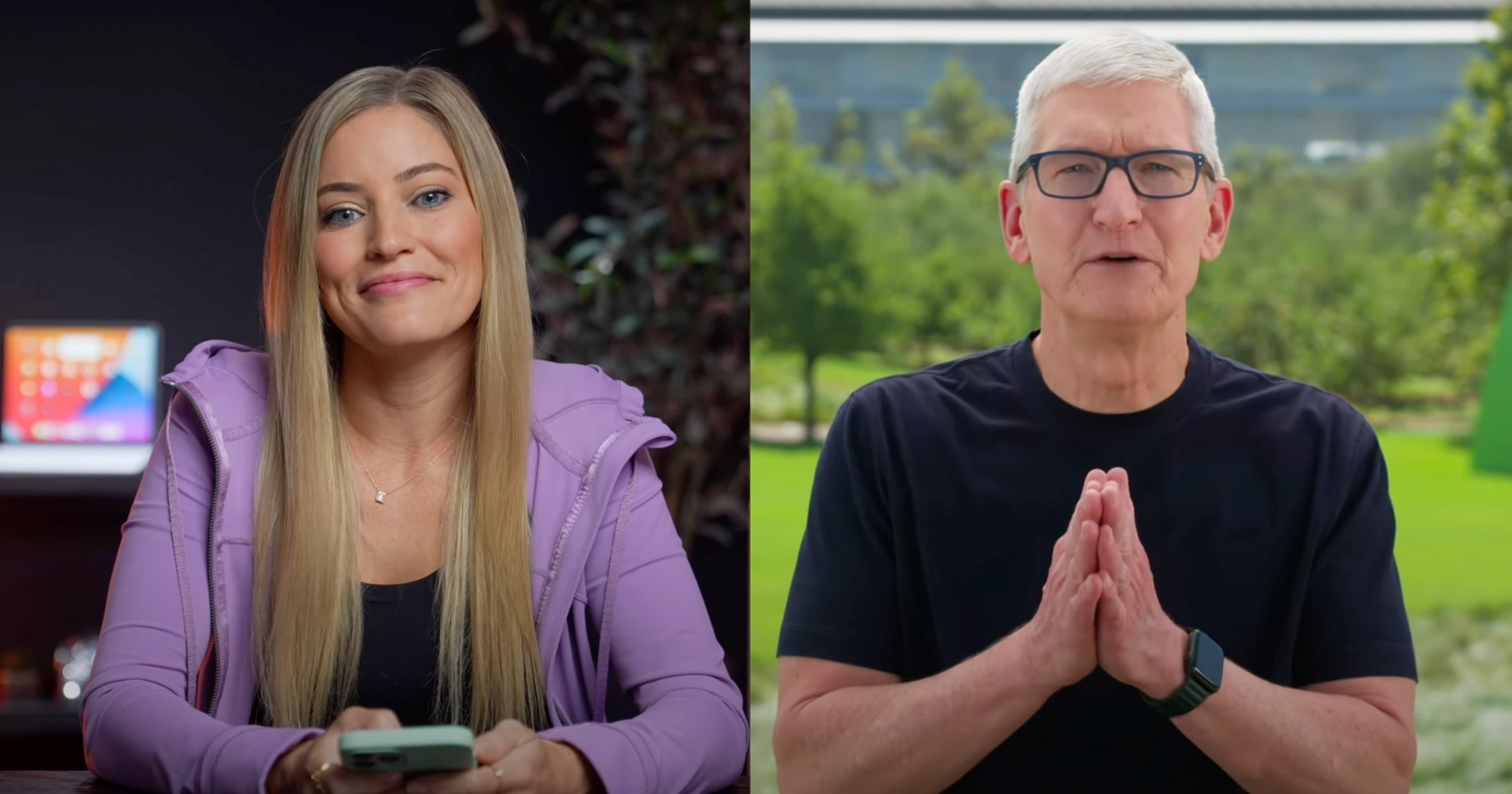 iJustine Interviews Tim Cook After 'California Streaming' Event